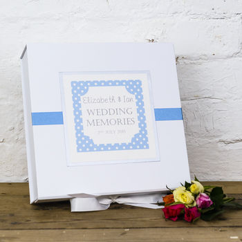 Personalised Dotty Wedding Memory Box