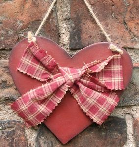 Handmade Rustic Heart with Bow