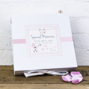 New Baby Personalised Vintage Keepsake Box - keepsakes