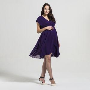 Annabelle Chiffon Pleat Front Dress