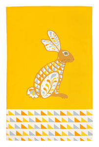 Decorative Hare Teatowel