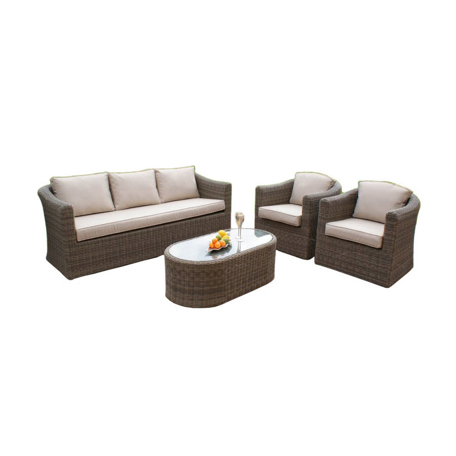 round weave large sofa set by out there exteriors. Black Bedroom Furniture Sets. Home Design Ideas