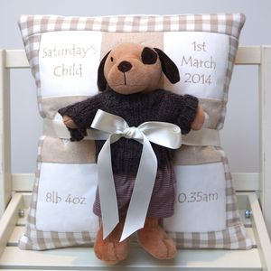 Natural Memory Cushion And Toy Puppy