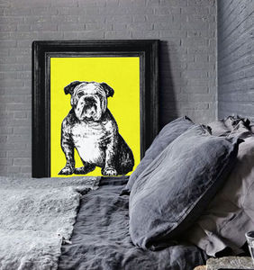 Bull Dog Portrait, Canvas Art Print - whatsnew