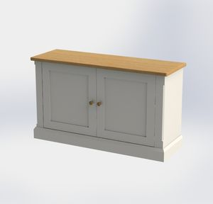 Bespoke Pilsley Cupboard With Bespoke Plinth - storage & organisers