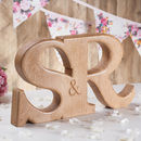 Carved Oak Wedding And Anniversary Wooden Letters