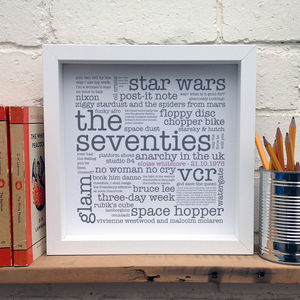 Personalised 40th Birthday Gift; The 1970s - view all sale items