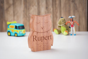 Christening And New Born Carved Owl