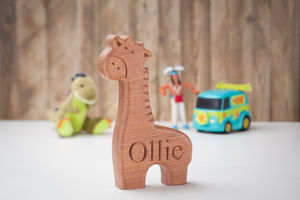 Christening & New Born Carved Giraffe - christening gifts