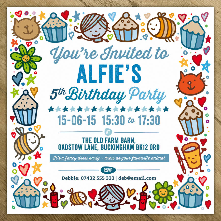 childrens party invitations by a is for alphabet ...
