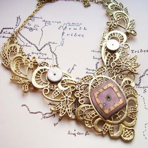 Filigree Watch Parts Collar Necklace