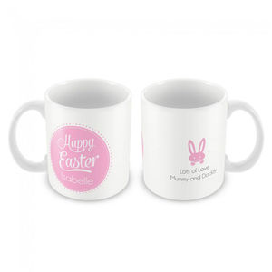 Personalised Mug, Pink Happy Easter - kitchen