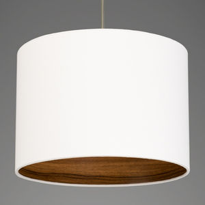 Walnut Wood Effect Lamp Shade Choice Of Colours - bedroom