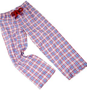 Fine Egyptian Cotton Check Pyjama Bottoms For Teenagers