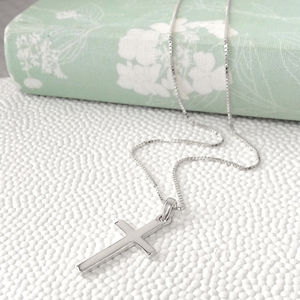 Sterling Silver Cross Necklace - jewellery gifts for children