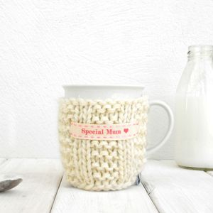 Personalised Knitted Mug Cosy - for grandmothers