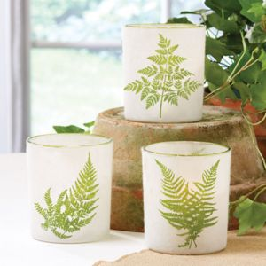 Botanical Candle Holder - votives & tea light holders