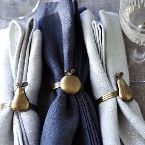 Amara Napkin Rings, Set Of Four - table linen