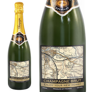Personalised Map Champagne - champagne & prosecco