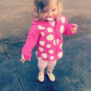 Child's Colour Changing Polka Dot Jacket