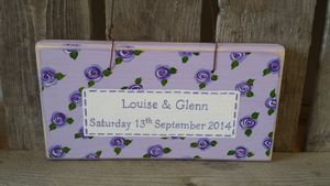 Personalised Floral Wedding Sign - room decorations