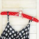 Coat Hanger Padded Red Polka Dot