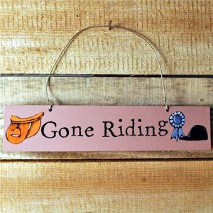 Gone Riding Door Hanger