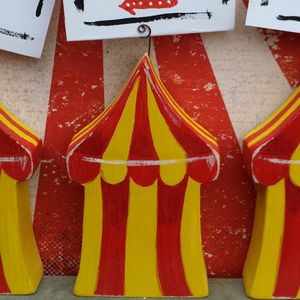 Circus Tent Placecard Holder - kitchen