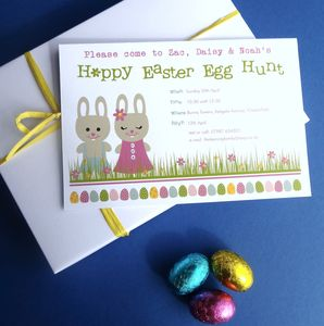 Easter Egg Hunt Personalised Invitations