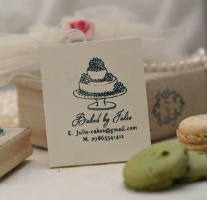 'Baked By…' Cake Rubber Stamp