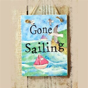 Gone Sailing Sign - art & decorations