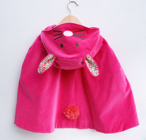 Bunny Ears Dress Up Cape - clothing