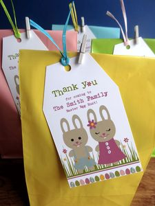 Easter Egg Hunt Bags And Personlised Tags