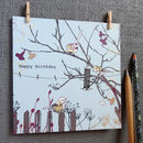 Happy Birthday Feeding Birds Card