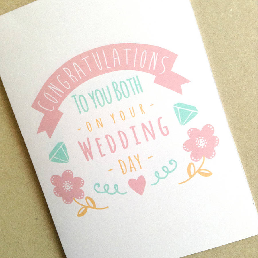 Personalised Congratulations Wedding Day Card By Ello Design