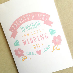 Personalised Congratulations Wedding Day Card - personalised