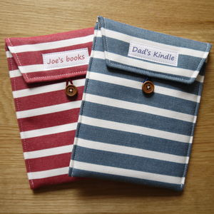 Personalised Stripey Cover For Kindle