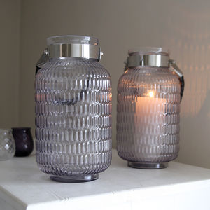 Ripple Glass Lantern - candles & home fragrance