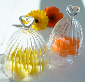 Bird And Heart Glass Dome - table decorations