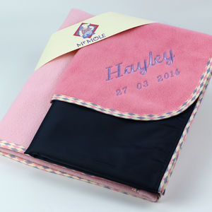 Personalised Changing Mat And Blanket Gift Set - baby's room