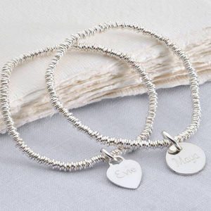 Girl's Personalised Silver Charm Sweetie Bracelet - children's jewellery