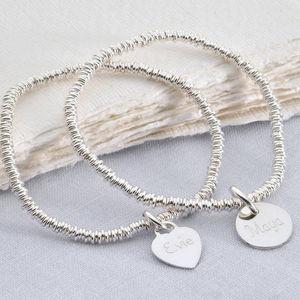 Girl's Personalised Silver Charm Sweetie Bracelet