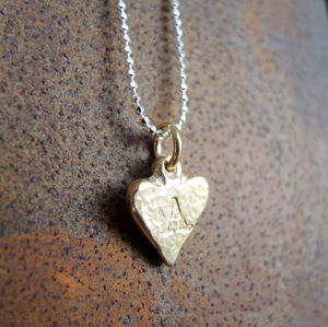 Gold Plated Alphabet Heart Charms - charm jewellery
