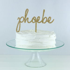 Personalised Name Cake Topper - personalised