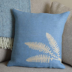 Fern Hand Printed Linen Cushion - patterned cushions
