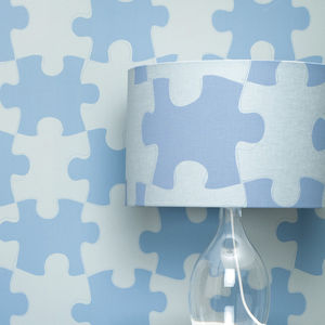 Puzzle Pieces Lampshade - children's room