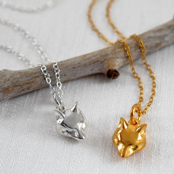 Fox Necklace With Personalised Gift Message