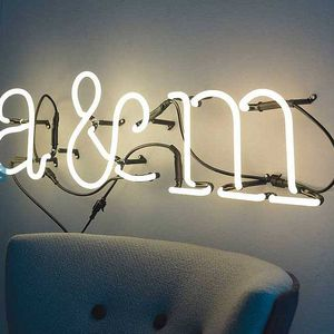 Couples Initials Neon Lights