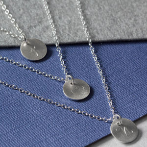 Engraved Triple Disc Layering Necklace Set - what's new
