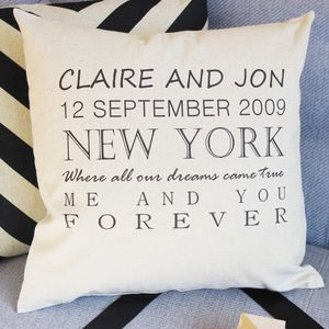 Personalised Forever Cushion - personalised wedding gifts
